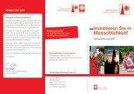 Investieren Sie in Menschlichkeit! - Caritasverband Freiburg