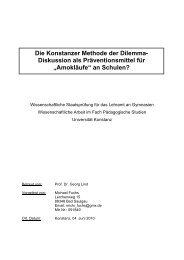 Die Konstanzer Methode der Dilemma - Universität Konstanz