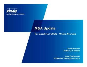 2012 1113 MA Update - Tax Executives Institute, Inc.