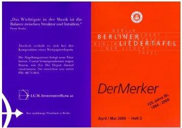 Einer von uns… - Berliner Liedertafel