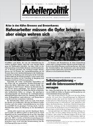 1 2010 - der Gruppe Arbeiterpolitik