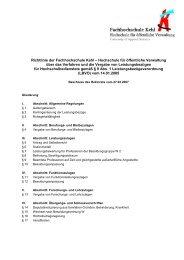 Richtlinie Leistungsbezüge v. 27.02.07 - Hochschule Kehl