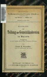 Geschichte der Teilung der Gemeinländereien in Bayern