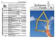 Sackmann- Postille Nr. 1 - Linden entdecken...