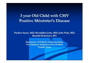 3 year Old Child with CMV Positive Ménétrier's Disease - Healthcare ...
