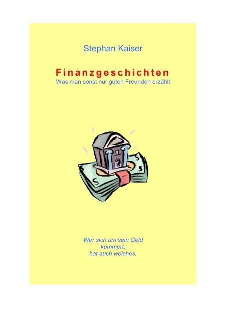 Finanzgeschichten - Finanzplan in Excel
