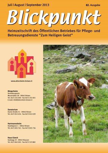 Blickpunkt Juli - September 2013 (pdf - 2MB) - Zum Heiligen Geist