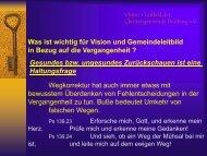 Rückblick ehemalige Pastoren - Christengemeinde Duisburg Ruhrort
