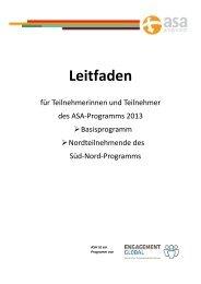 TN Leitfäden 2013 Süd Nord und Basisprogramm - ASA-Programm