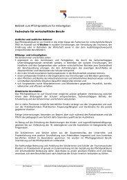 Beiblatt für die Fachschule für wirtschaftliche Berufe