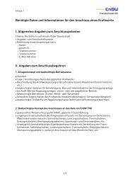 Informationen Kraftwerksanschluss Anlage 1