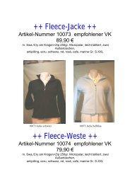 Fleece-Jacke ++ ++ Fleece-Weste - Erwin Reithmeier