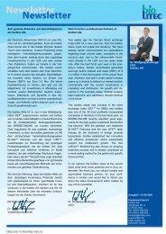 Dr. Wolfgang Neuberger CEO biolitec AG Sehr geehrte Aktionäre ...