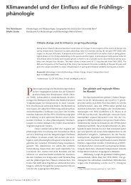 Klimawandel und der Einfluss auf die Frühlingsphänologie - GLOBE