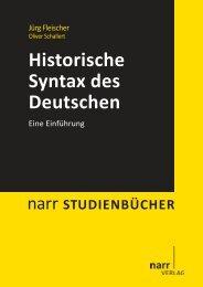 Historische Syntax des Deutschen. Eine Einführung - Narr