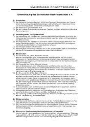 SHV Ehrenordnung - Deutscher Hockey Bund e.V.