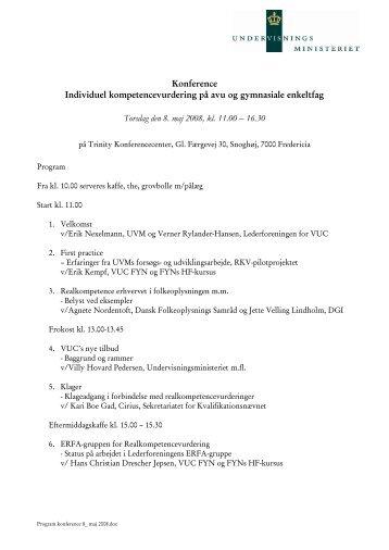 Konference Individuel kompetencevurdering på avu og gymnasiale ...