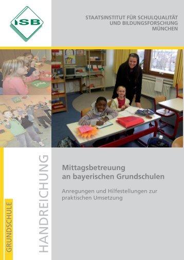 """Handreichung """"Mittagsbetreuung an bayerischen ... - ISB - Bayern"""