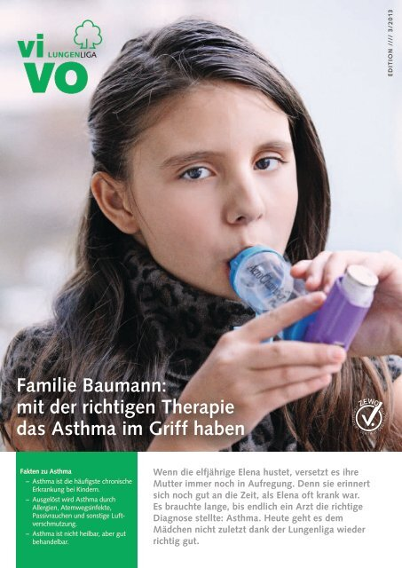 mit der richtigen Therapie das Asthma im Griff haben - Lungenliga