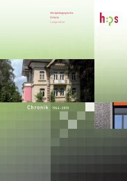 Chronik 1964–2010 - HPS Oberaargau