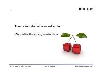 Abweichen von der Norm - Norbert Bödecker