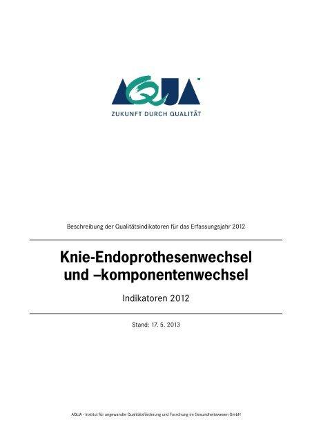 Indikatorenbeschreibung 2012 (PDF) - SQG