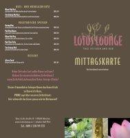 MITTAGSKARTE - lotuslounge.eu