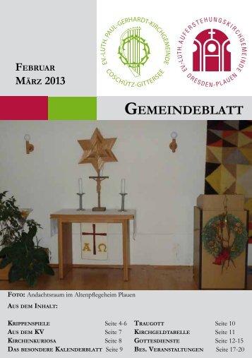 Februar/März - Auferstehungskirche Dresden-Plauen