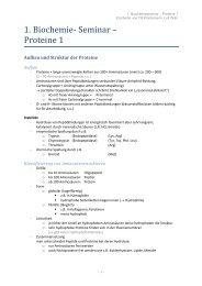 1. Biochemie- Seminar – Proteine 1 - wilmnet.de