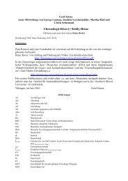 Chronologie Kloss [= Kloß], Heinz - Homepage.uni-tuebingen.de