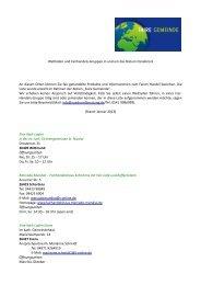 Adressen von Fair-Handels-Gruppen und ... - Bistum Osnabrück