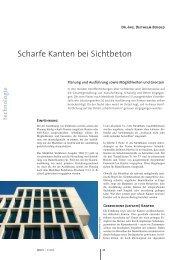 Scharfe Kanten bei Sichtbeton - Beton.org