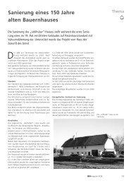 Sanierung eines 150 Jahre alten Bauernhauses - IBO