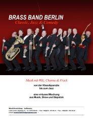Classic, Jazz & Comedy - Brass Band Berlin