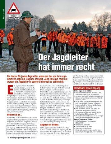 Der Jagdleiter hat immer recht - Jagdschule Sauerland