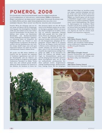 POMEROL 2008 - Meiningers Weinsuche