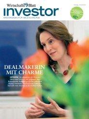 DEALMAKERIN MIT CHARME - wirtschaftsblatt.at