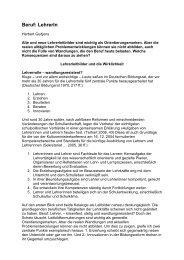 Beruf: LehrerIn - GEW Bremen