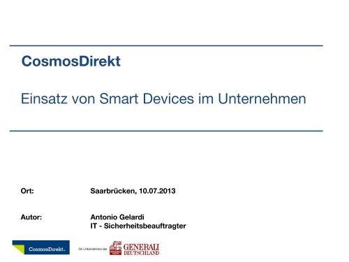 Cosmosdirekt Einsatz Von Smart Devices Im Unternehmen