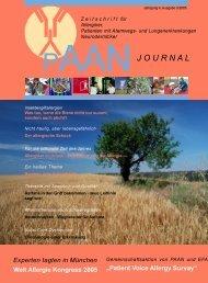 journal - PAAN Bundesverband - Patientenorganisationen, Allergie