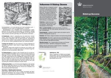 Folder om Bidstrup Skovene - Naturstyrelsen