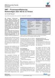 SMT – Prozessqualifizierung: Notwendiges über AOI & Co ... - Ersa