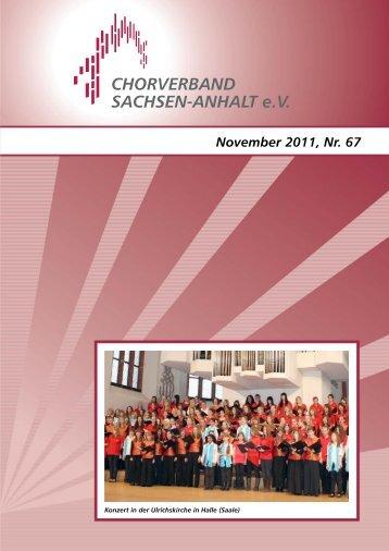 Heft_67 - Chorverband Sachsen-Anhalt e.V.