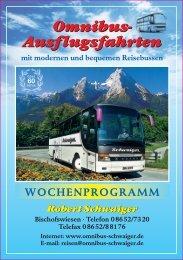 Wochenprogramm 2013 - Omnibus-schwaiger.de