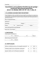 Erweiterung von Beherbergungsbetrieben - DLH 2007/55