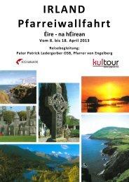 IRLAND Pfarreiwallfahrt - KulTOUR Ferienreisen