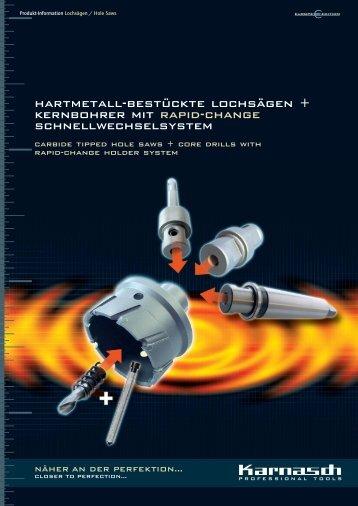 hartmetall-bestückte lochsägen + kernbohrer mit rapid ... - ATI TOOL