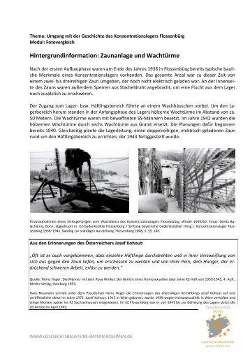 Hintergrundinformation: Zaunanlage und Wachtürme