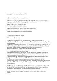 Satzung des Nordwestkurve Frankfurt e.V. § 1 Name und Sitz des ...
