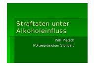Straftaten unter Alkoholeinfluss (Willi Pietsch) - eva